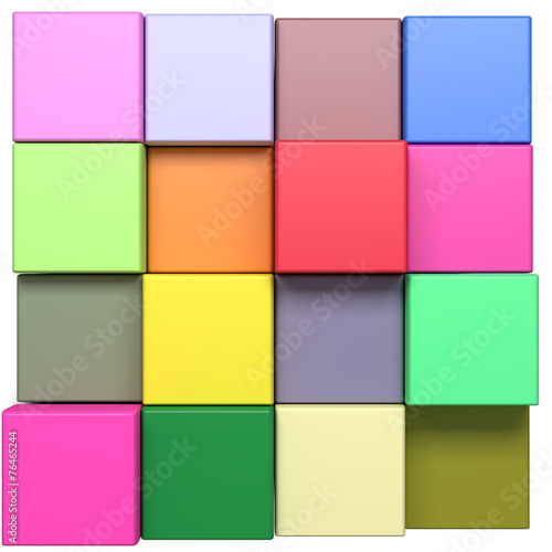 colored cubes © erllre