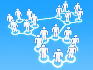 Social network groups concept 3D