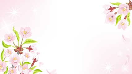 Cherry Blossom background-Ornament