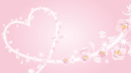 Heart shape by blowing petals