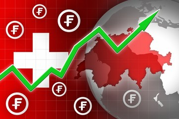 switzerland currency growth up news background
