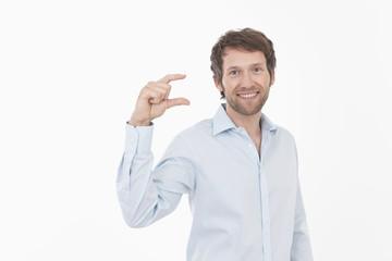 Mann Gestikulieren, Portrait