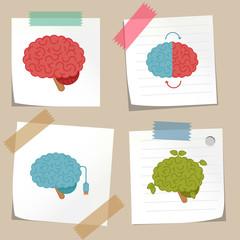 Brain concept illustration set