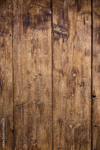 Old wooden planks surface background - 76466241