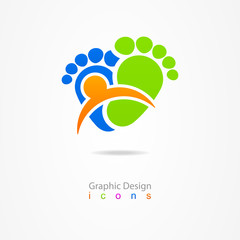 logo business traces web icon sign baby