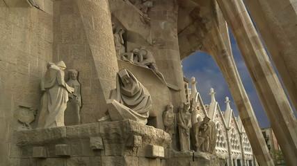 Sagrada Familia by Antoni Gaudi in Barcelona, Spain