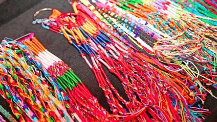 necklaces colorful wire produced by a craftsman