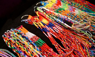 colorful bangles and necklaces colorful wire