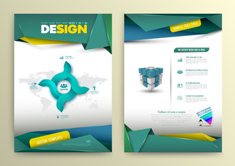 Vector design page template modern style.