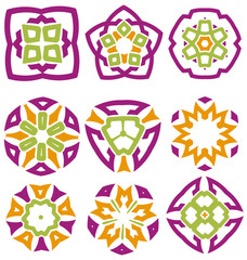 .Nice abstract flower elements