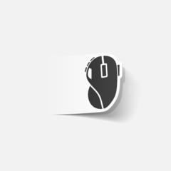realistic design element: computer mouse