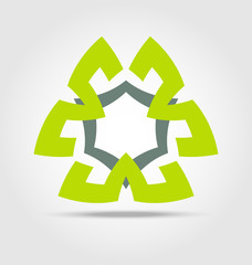 Sustainable energy business icon