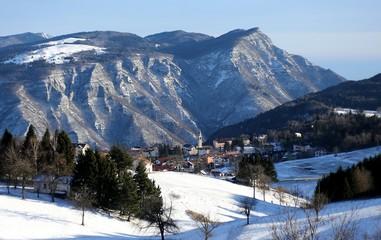 mountains and the village of TONEZZA del Cimone, Italy