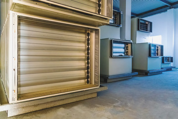 Air conditioning equipment on pharmaceutical industry manufactur