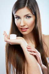 Skin care face woman portrait. Beauty concept.