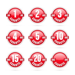 logo garantie rouge
