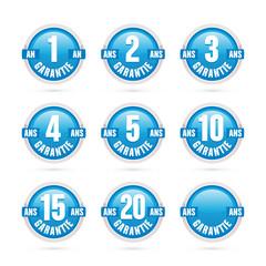 logo garantie bleu