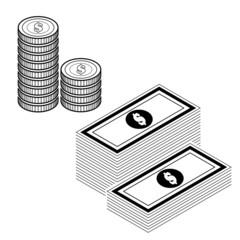 money isolate on white vector