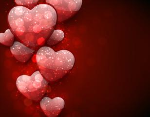 Valentine's red background.