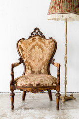 brown Royal Chair with lamp