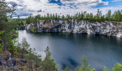 Scenery of Mining Park Ruskeala.