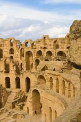 Ruins of the Roman amphitheatre at El Djem