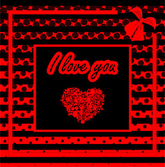 White heart trendy illustration. Flat design. Vector art