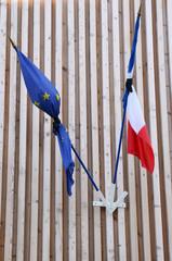 France, half mast flag in les Mureaux
