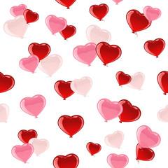 Valentines heart seamless background