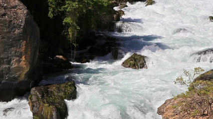 Mountain river. Tajikistan. Iskanderdarya