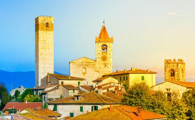 Serravalle Pistoiese panorama , Pistoia, Tuscany, Italy.