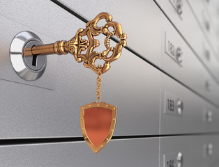 Key in the safe deposit box