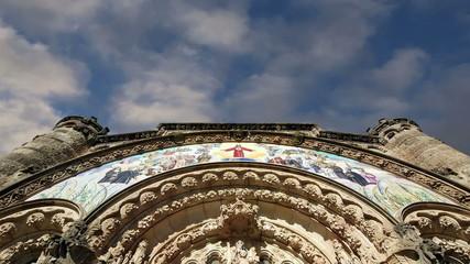 Tibidabo church (temple), at the top of tibidabo hill, Barcelona