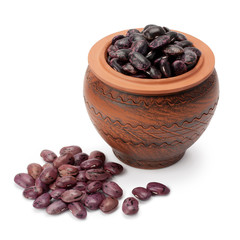 Grain beans in ceramic pot