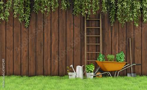 canvas print picture Gardening