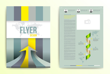 Flyer brochure cover design vector template.