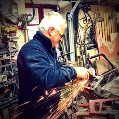 Professional mechanic welder at work!