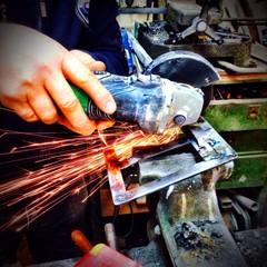 Professional mechanics welder at work!