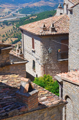 Panoramic view of Guardia Perticara. Basilicata. Italy.
