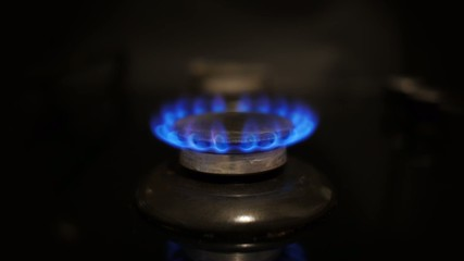 Changing flame of a gas stove.