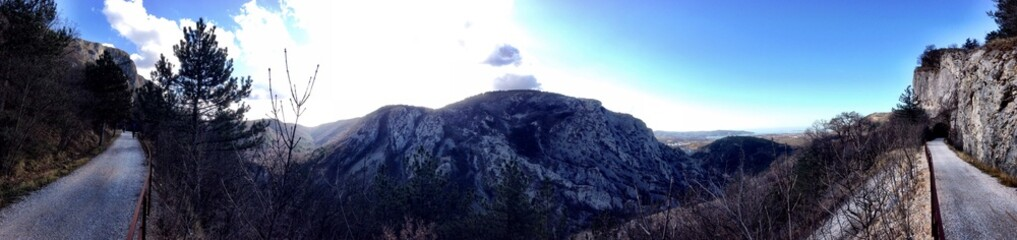 Italian mountain sunny day landscape -Trieste