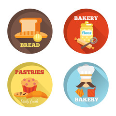 Bakery decorative icons
