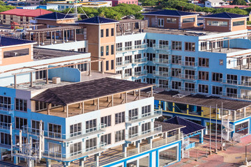 New Construction on Blue Building