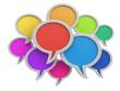 Zdjęcia na płótnie, fototapety, obrazy : Color speech bubbles (clipping path included)