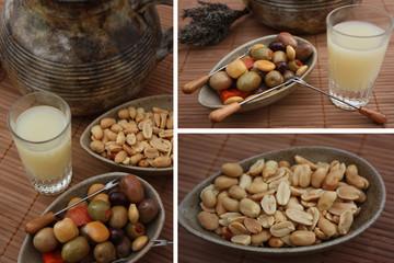 Apéritif Provençal : Pastis  Olive farcie Cacahuètes