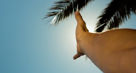 Hand In The Sun Flare Vacation Travel Hope Summer Freedom Sun