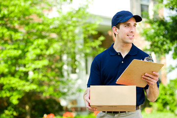 Delivery: Holding Parcel for Delivery