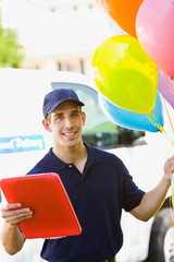 Delivery: Cheerful Balloon Delivery Man