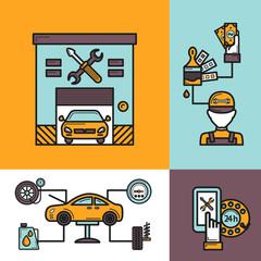 Auto Service Concept