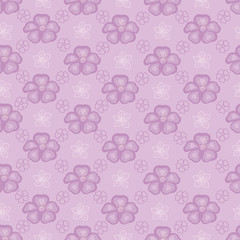 Violet seamless background with flowers
